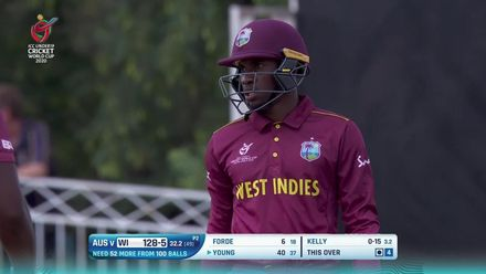 ICC U19 CWC: AUS v WI – Highlights of Young's 61
