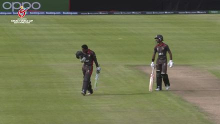 ICC U19 CWC: UAE v CAN - Johnathan Figy reaches his century