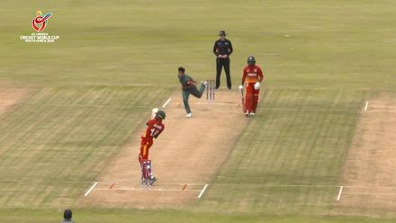 ICC U19 CWC: BAN v ZIM – Shumba slashes a six over third man