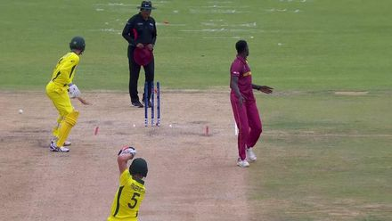 ICC U19 CWC: AUS v WI – Hearne run out backing up