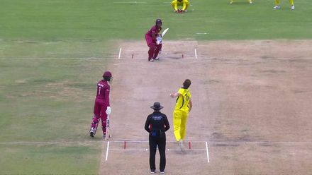 U19CWC_2020_MATCH5_AUSvWI_WI_5.2_JULIEN_WICKET