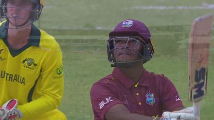 ICC U19 CWC: AUS v WI – Morris caught on long-off boundary
