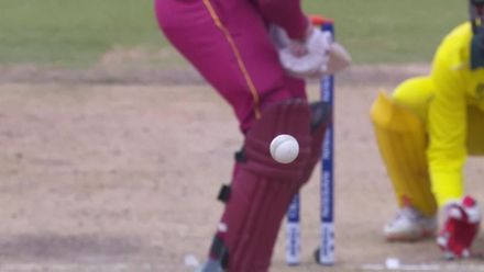 ICC U19 CWC: AUS v WI – Sangha traps Patrick plumb in front for his fourth of the day