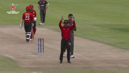 ICC U19 CWC: UAE v CAN – Randhir Sandhu smashes a six