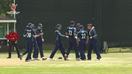 ICC U19 CWC: PAK v SCO – Peet reduces Pakistan to 4/2