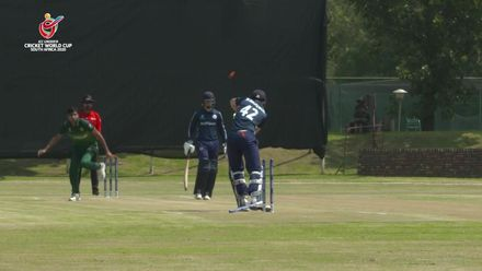 ICC U19 CWC: PAK v SCO – Tahir Hussain strikes twice in first over of the game