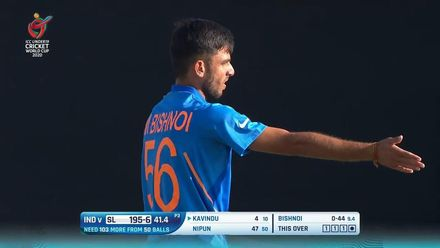 ICC U19 CWC: IND v SL – Full highlights of India's 90-run victory
