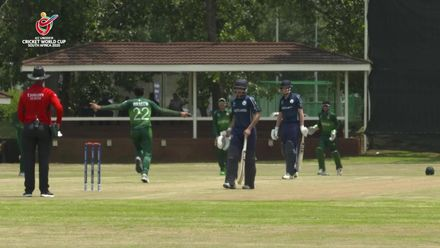 ICC U19 CWC: PAK v SCO – Waseem clatters the stumps twice in an over