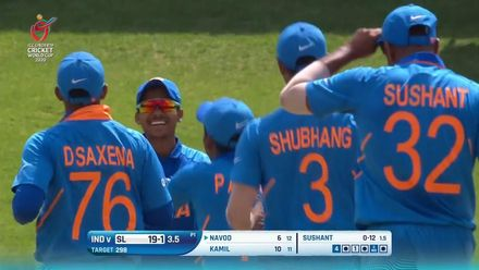 ICC U19 CWC: IND v SL – Paranavithana holes out off Mishra
