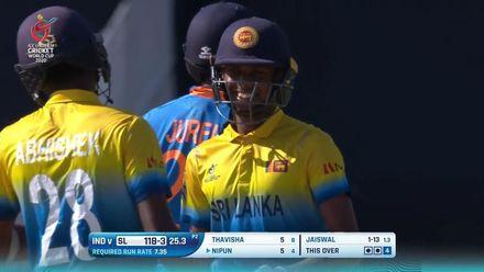 ICC U19 CWC: IND v SL – Highlights of Nipun Dhananjaya Perera's half-century