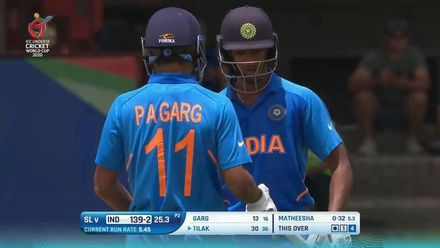 ICC U19 CWC: IND v SL – Highlights of the India innings