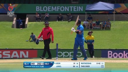 ICC U19 CWC: IND v SL – Highlights of Jurel's unbeaten 52