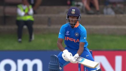 ICC U19 CWC: IND v SL – Siddhesh Veer hits an inventive four