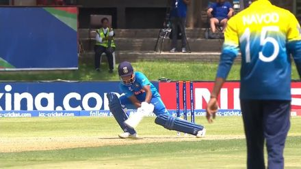 ICC U19 CWC: IND v SL – Veer reverse-scoops for four