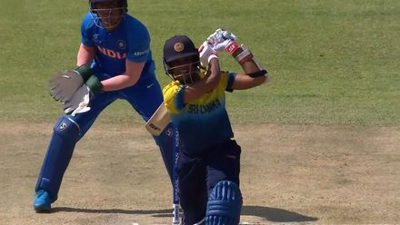 ICC U19 CWC: IND v SL – Rashantha slaps one down the ground