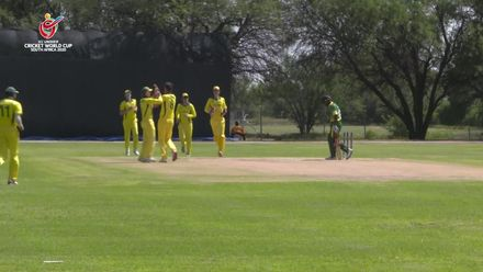 ICC U19 CWC: AUS v NGR – Marshall takes a wicket with his first ball
