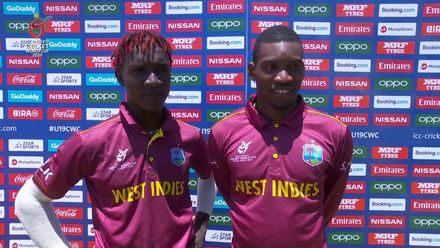 ICC U19 CWC: ENG v WI – Kevlon Anderson and Nyeem Young flash interview