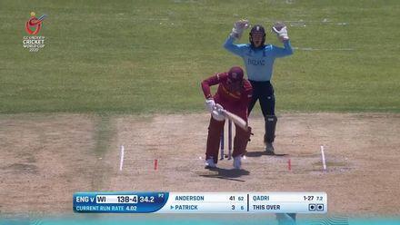 ICC U19 CWC: ENG v WI – Patrick undone by Qadri's skiddy spin