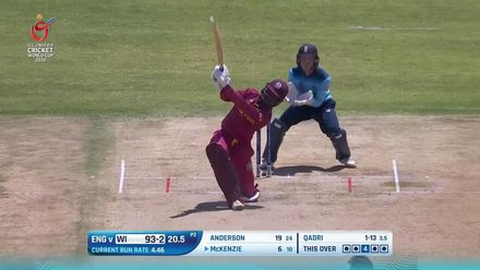 ICC U19 CWC: ENG v WI – McKenzie displays his six-hitting prowess