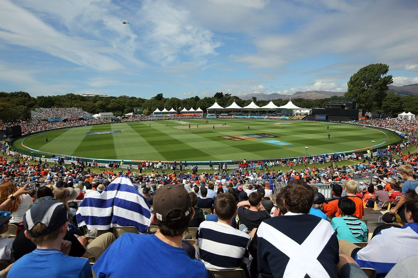 A view of the Hagley Oval during the ICC Men's Cricket World Cup 2015