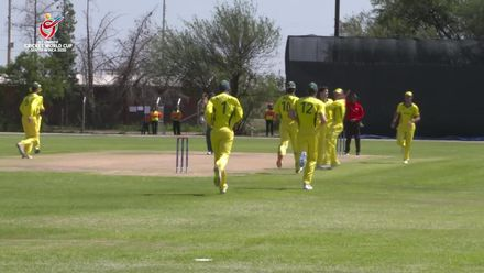 ICC U19 CWC: AUS v NGR – Simpson strikes with the second ball of the match