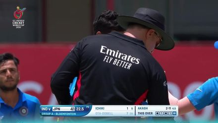 ICC U19 CWC: IND v JPN – Ota-Dobell the final Japanese wicket to fall