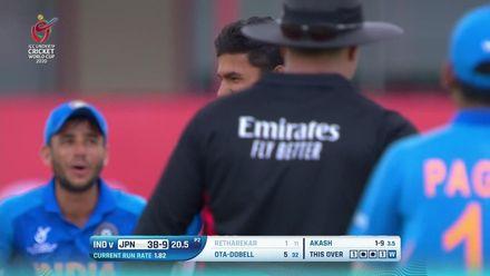 ICC U19 CWC: IND v JPN – Retharekar the ninth Japanese batsman to go
