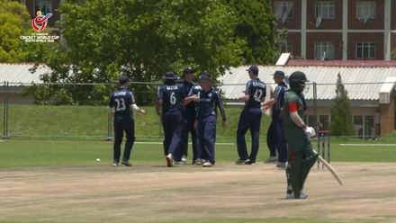 ICC U19 CWC: BAN v SCO – Bangladesh lose Tanzid Hasan off the very first ball
