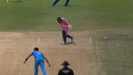 ICC U19 CWC: IND v JPN – Tyagi yorks Clements for his third wicket