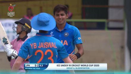ICC U19 CWC: IND v JPN –Kartik Tyagi takes two wickets in two balls