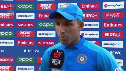 ICCU19 CWC: IND v JPN – Jurel react to India's brilliant performance with the ball