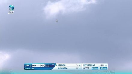 ICC U19 CWC: IND v JPN – All the boundaries from India's 10-wicket win