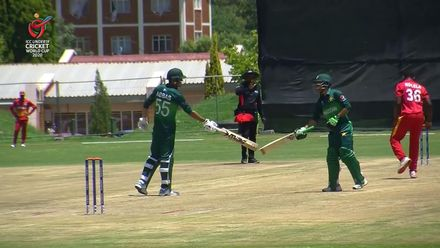 ICC U19 CWC: PAK v ZIM – Highlights of Pakistan's 38-run win