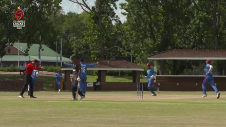 ICC U19 CWC: AFG v UAE – Shafiqullah runs out UAE captain with direct hit