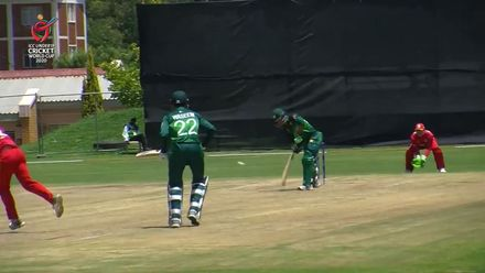 ICC U19 CWC: PAK v ZIM – Grant claims Haris after getting hit for a six