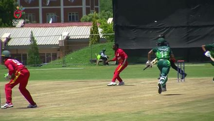 ICC U19 CWC: PAK v ZIM – Shahzad beaten by Tugwete's throw
