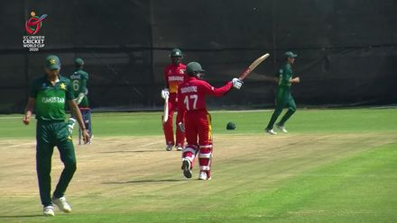 ICC U19 CWC: PAK v ZIM – Madhevere brings up his fifty