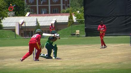 ICC U19 CWC: PAK v ZIM – Fahad Munir gets to his 50, departs right after