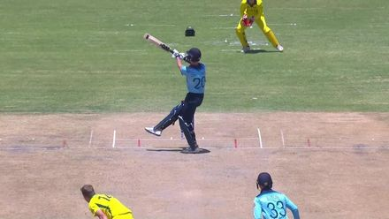 ICC U19 CWC: AUS v ENG – Charlesworth falls for 82