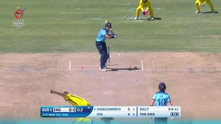 ICC U19 CWC: AUS v ENG – Highlights of Charlesworth's 82