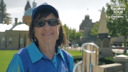 ICC Women's T20 World Cup Trophy Tour driven by Nissan: A special volunteer at Bendigo