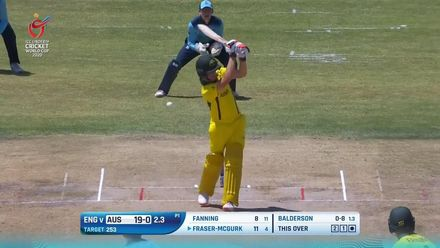 ICC U19 CWC: AUS v ENG – Fraser-McGurk falls early in chase