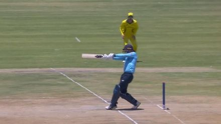 ICC U19 CWC: AUS v ENG – Evison swats a big six over midwicket