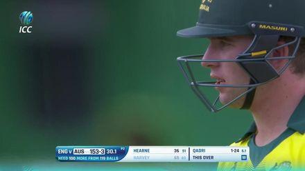 ICC U19 CWC: AUS v ENG – Qadri claims the big wicket of Harvey