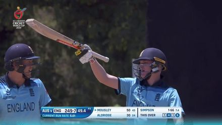 ICC U19 CWC: AUS v ENG – Highlights of Dan Mousley's scintillating 51*