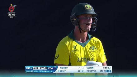 ICC U19 CWC: AUS v ENG – Australia steal 22 runs from the 48th over