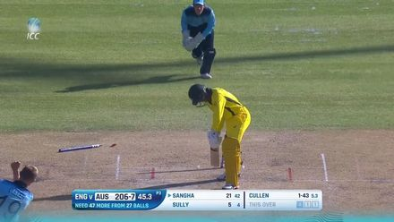 ICC U19 CWC: AUS v ENG – All the 15 wickets to fall