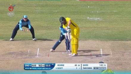 ICC U19 CWC: AUS v ENG – Qadri knocks off Scott's leg stump