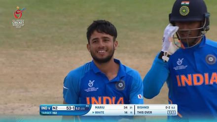 ICC U19 CWC: IND v NZ – Highlights of Ravi Bishnoi's 4/30
