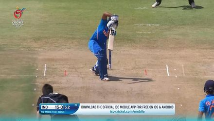 ICC U19 CWC: IND v NZ – Highlights of the India innings